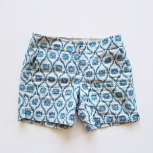Shorts, Embroidery, Retro Blue/Beige, Size 0